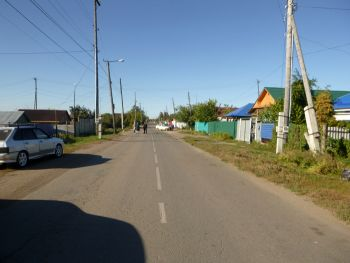 В Еманжелинске столкнулись автомобиль «Лада Калина» и мотоцикл «Сузуки»
